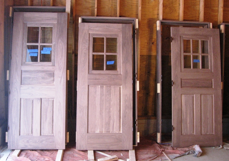 Prehung custom sized wood doors