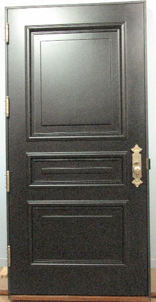 Reproduction door with brass lock/handle and hinges