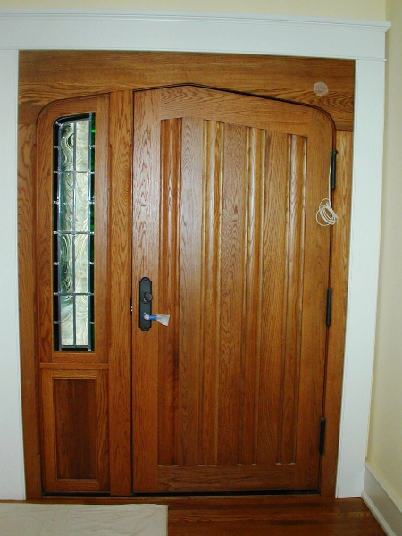 Door with sidelite- interior shot