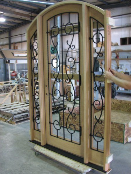 Custom wood door