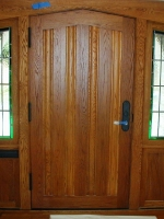 Door with double sidelite- interior shot