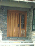 Door with sidelite- exterior shot