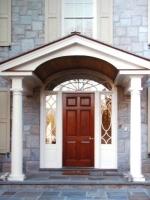 Custom Entry with wood columns