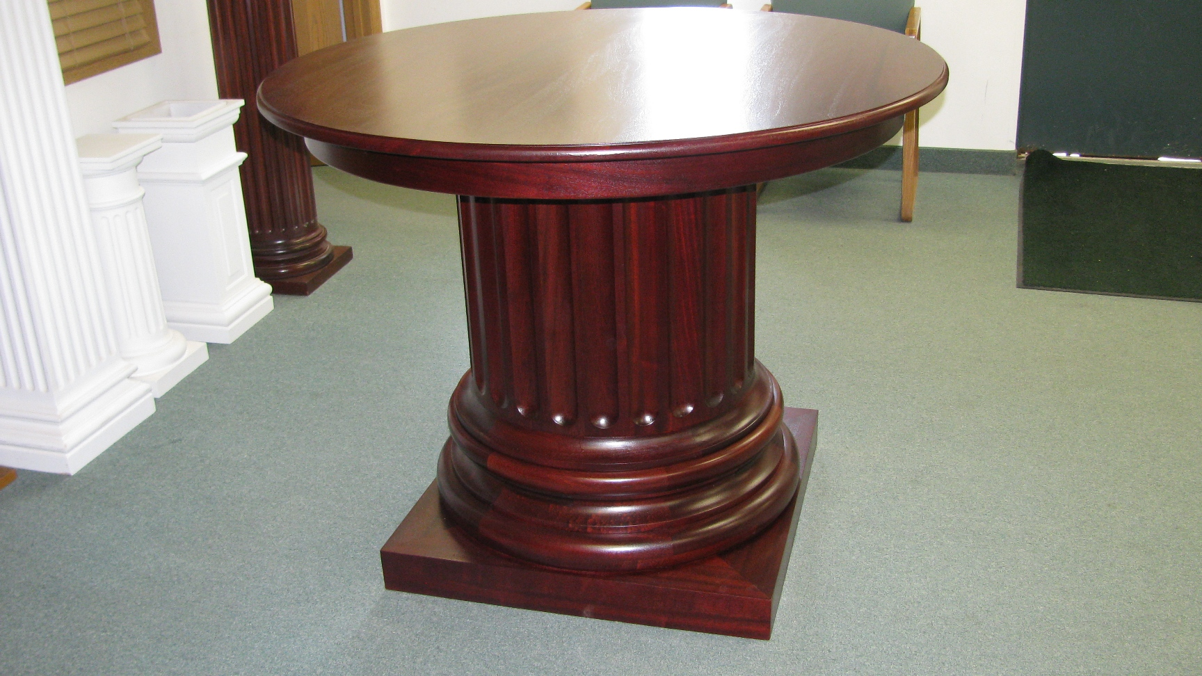 Mahogany table somerset door column co for Table column