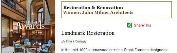 Restoration & Renovation project award