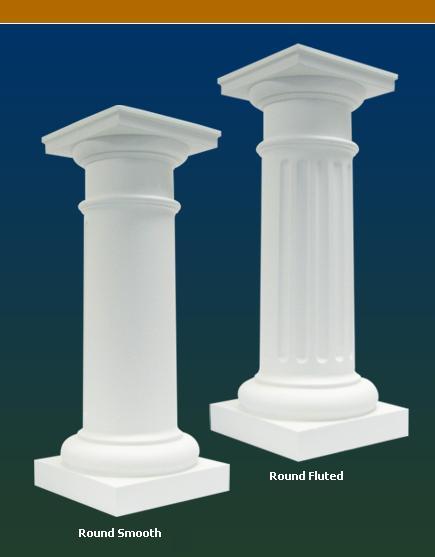 Stavecast composite columns somerset door column co for Round columns